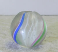 #12740m Vintage German Handmade Latticino Swirl Marble .70 Inches