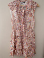 Seduce Pink Floral Silk Dress Size 10