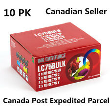 10 Ink for Brother LC75 LC71 MFC-J625DW MFC-J6510DW MFC-J6710DW MFC-J6910DW