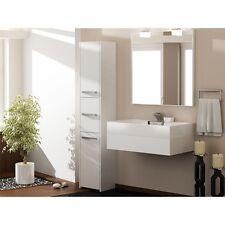 Badezimmerschrank 3 Türen  Badschrank Hochschrank  Schrank Regal Bad Weiß