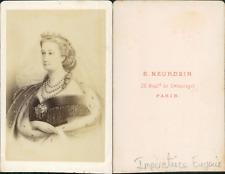 Impératrice Eugénie CDV vintage albumen. Tirage albuminé  6,5x10,5  Circa