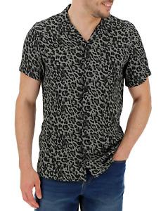Jacamo Men's Smart Shirt Short Sleeve Leopard Print XL Shirt - New