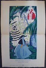 Robert BONFILS Pochoir Art Déco ORIGINAL planche double 1920 GAZETTE BON TON