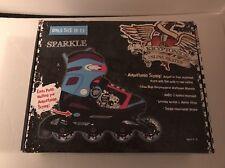 Sparkle Kryptonics Girls Adjustable Inline Skates Size 10-13 Nib
