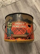 Vintage Smokey The Bear Picnic Grill
