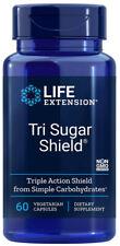 TRI SUGAR SHIELD BLOOD SUGAR GLUCOSE SUPPORT 60 Capsule LIFE EXTENSION