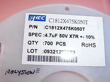 Posten Lot of 700pcs 4.7uF 50V X7R 10% C1812X475K050T Ceramic Capacitors SMD