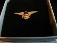 DELTA - SERVICE AWARD PIN 25 YEARS - DIAMOND WITH 2 RUBY STONES - 10K
