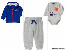 GYMBOREE Boys  Trucks Outfit  With Sweatshirt Jacket  NWT SIZE 18-24 MTHS