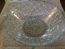 Pressed glass serving  bowl