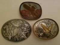 Montana Silversmith Golden Soaring Eagle Belt Buckle plus Sheplers Cattle Drive