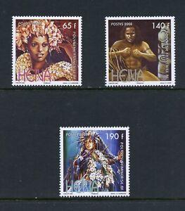 C045  French Polynesia  2008  Heiva Festival   3v.    MNH