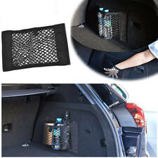 1X Car Storage Net Bag Black Nylon Truck Seat Rear Pocket Cargo Trunk Magic Tape