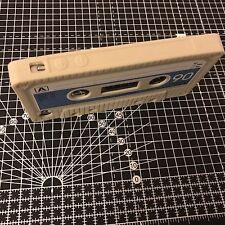 Apple Iphone 4 y 4S Cubierta de Estuche Retro Cassette flexiblerugged TPU Blanco