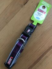 New With Tags Kong Comfort ,Reflective Dog Collar Eggplant Purple Small 10-14�