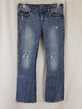 Silver Jeans Alex Womens Blue Denim Size 30 x 33 Boot Cut Light Wash Destroyed