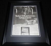 1985 TDK Super Avilyn Video Cassettes 11x14 Framed ORIGINAL Advertisement