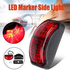 Red LED 2 Diode Light Oval Clearance Car Trailer Truck Side Marker Lamp 12V-24V