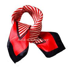 Nickituch aus 100% Seide Seidentuch 52cmx52cm Tuch Schal rot weiss schwarz 5904