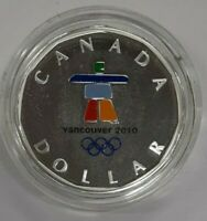 2010 Canada Silver $1 Coin Vancouver Olympics Gem Proof in Capsule