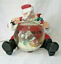 Mr. Christmas Gold Label Holiday Snowfall Santa Claus Music Box Snowglobe Works