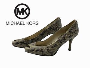 Michael Kors Snakeskin Print Classic Pumps