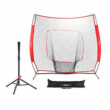 Travel Batting Tee Steel Frame with 7'x7' Practice Net hlk