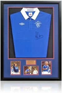Ronald de Boer Hand Signed Rangers Football Shirt AFTAL COA