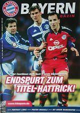 Programm 2000/01 FC Bayern München - FC Schalke 04