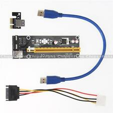 USB 3.0 PCI-E Express 1x To 16x Extender Riser Card Adapter SATA Power Cable CF