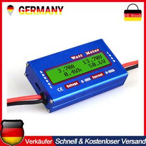Digital LCD Volt Tester Wattmeter Power Analyzer Leistungsmesser DC RC 60V/100A