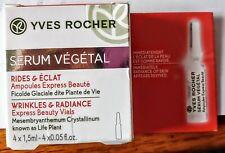 Yves Rocher Serum Vegetal Wrinkles & Radiance Express Beauty Vials 4-1.5 ml $16