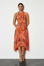 NWT $475 Karen Millen UK14 US10 Oriental Pleated Dress