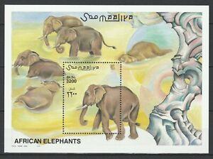 Somalia 2000 Fauna, Animals, Elephants MNH Block