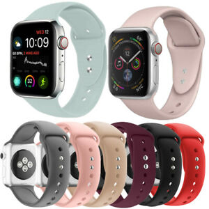 38mm-44mm Silicone Sport Band Replacement Strap Belt For iWatch Series 6/5/4/3/2