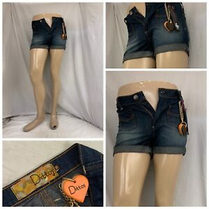 Dittos Jean Shorts Sz 25 Blue 100% Cotton Low Rise Made In USA YGI N1-344CG