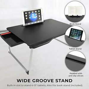 New Laptop Desk MegaXXL Floding for Bed &Sofa,Eating,Writing,Reading,Couch-Black