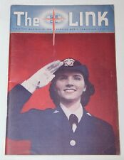 """ORIGINAL WWII """"THE LINK"""" MONTHLY MAGAZINE FROM SERVICE MEN'S CHRISTIAN LEAGUE"""