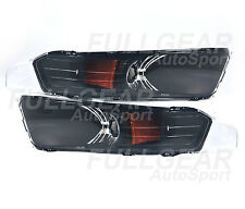BLACK w/ CLEAR FRONT BUMPER TURN SIGNAL LIGHT SET FOR FORD MUSTANG 2005-2009