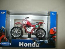 Moto Miniature Honda Cross Cr 250 R WELLY 1/18