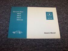 1976 Mercedes Benz 200D 220D 240D 3.0 Diesel Original Owner Operator Manual 3.0L