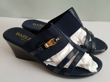 BNIB Ladies Sz 36 5 Barletta for Autograph Navy High Heel Wedge Sandals Shoes