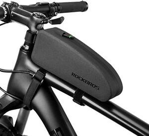 RockBros Bike Frame Bag Cycling Top Tube Bag Waterproof Large Capacity Black UK