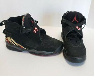 Men's Nike Air Jordan 8 Retro Playoffs Black Red White 2007 6.5Y 305368-061 READ