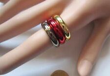 Lote 3 anillos acrílico metalizados nº 7 ó 16,8 mm diámetro bisutería r-16