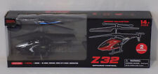 """Z32 Indoor RC Helicopter 2 Channel Infrared Control Black - 7"""" - New!"""