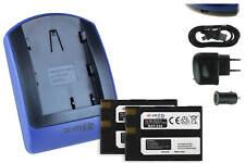 2x Baterìas + USB Cargador EN-EL3 ENEL3 para Nikon D50, D70, D70s, D100