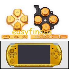 replacement parts cross pad volume start button yellow gold for sony psp 3000