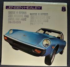 1972 Jensen-Healey Sales Brochure Folder Nice Original 72