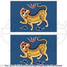 "FORMOSA Flag Taiwan (1895) Republic of China RoC Bumper Decals, Stickers 4"" x2"